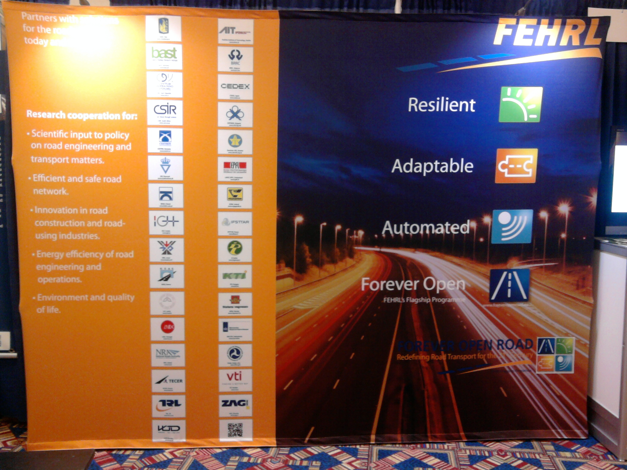 FEHRL booth at TRB
